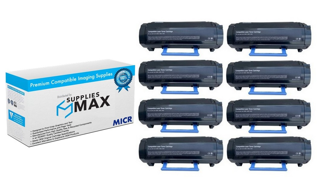 MICR Dell B3465DN/3465DNFDN/B3465DNF High Yield Toner Cartridge (8/PK-20000 Page Yield) (8HYB3465)